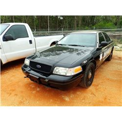2011 FORD CROWN VICTORIA VIN/SN:2FABP7BV9BX168686 - GAS ENGINE, A/T, ODOMETER READING 142,073 MILES