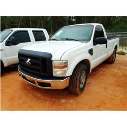 2008 FORD F250 PICK UP, VIN/SN:1FTSF20R88EC34175 - FORD POWERSTROKE DIESEL ENGINE, A/T, ODOMETER REA