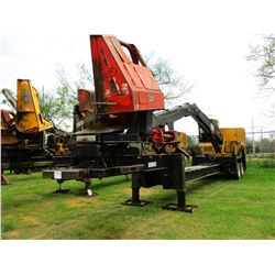 2014 CAT 559C LOG LOADER, VIN/SN:KAS00361 - CAB, A/C, CTR 426 DELIMBER, MTD ON PITTS TRAILER, HYD LA