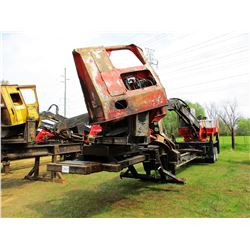 PRENTICE 384D LOG LOADER, VIN/SN:62904 - CAB, A/C, CTR DELIMBER, MTD ON PRENTICE TRAILER, METER READ