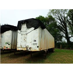 1989 KENTUCKY CHIP TRAILER, VIN/SN:1KKVA422XKL084473 - T/A, 40', OPEN TOP, HALF GATE, 11R24.5 TIRES