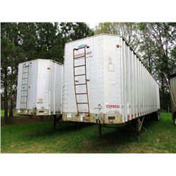 1996 PEERLESS 45-CTS CHIP TRAILER, VIN/SN:1PLF04520TPA20951 - T/A, OPEN TOP, HALF GATE, 11R24.5 TIRE