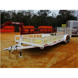 """TAG TRAILER, - T/A, 7' X 24', 24"""" DOVETAIL, FOLD DOWN RAMPS, WOOD FLOOR"""