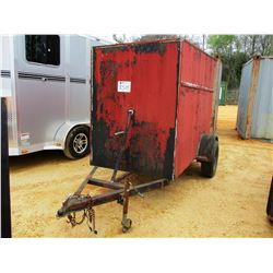 4' X 8' S/A ENCLOSED TRAILER S/N CT489600 (C-1)