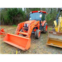 KUBOTA L5460 FARM TRACTOR, VIN/SN:40544 - LAID55 FRONT LOADER, CAB, A/C, 17.5L-24 TIRES, METER READI