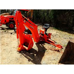 """KUBOTA BACKHOE ATTACHMENT BH-92 S/N A6645, FITS TRACTOR 24"""" BUCKET"""