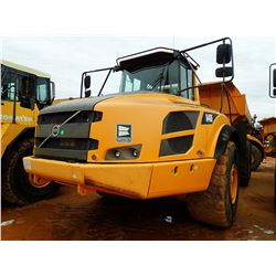 2012 VOLVO A40F ARTICULATED DUMP, VIN/SN:11802 - CAB, A/C, 29.5R25 TIRES, METER READING 14,699 HOURS