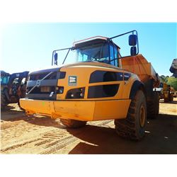 2014 VOLVO A40G ARTICULATED DUMP, VIN/SN:340132 - CAB, A/C, TAILGATE, 29.5R25 TIRES