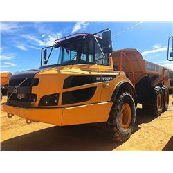2016 VOLVO A25G ARTICULATED DUMP, VIN/SN:740317 - CAB, A/C, 30/65R25 TIRES, METER READING 3,531 HOUR