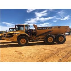 2016 VOLVO A25G ARTICULATED DUMP, VIN/SN:740318 - CAB, A/C, 30/65R25 TIRES, METER READING 2,940 HOUR