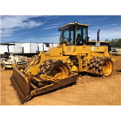 2001 CAT 815F COMPACTOR, VIN/SN:1GN01021 - STRAIGHT BLADE W/TILT, CAB, A/C, METER READING 7,340 HOUR