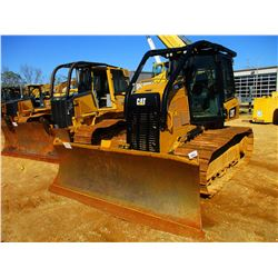 2016 CAT D5K2 LGP CRAWLER TRACTOR, VIN/SN:KY200691 - 6 WAY BLADE, CAB, A/C, SWEEPS, SCREENS, METER R