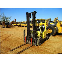 HYSTER H80XM FORKLIFT, VIN/SN:960Y - 8250LB CAP, LP GAS, DOUBLE STAGE MAST, 3' FORKS, CANOPY, METER
