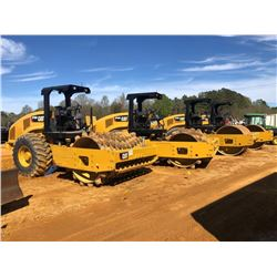 """2015 CAT CP56B ROLLER, VIN/SN:LHC00659 - VIBRATORY, 84"""" PADFOOT DRUM, CANOPY, METER READING 875 HOUR"""
