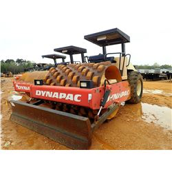 """2007 DYNAPAC CA262PD ROLLER, VIN/SN:67620688 - 84"""" PADFOOT DRUM, BLADE, CANOPY, METER READING 1,835"""