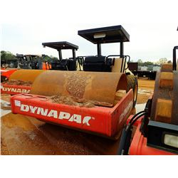 """2007 DYNAPAC CA262D ROLLER, VIN/SN:67520684 - 84"""" SMOOTH DRUM, VIBRATORY, CANOPY, METER READING 1,05"""