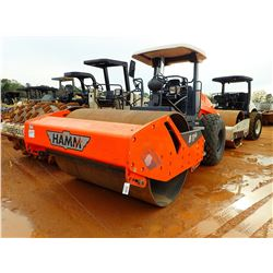 """2016 HAMM H11IX ROLLER, VIN/SN:H2100715 - 84"""" SMOOTH DRUM, CANOPY, METER READING 129 HOURS"""