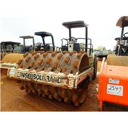 """INGERSOLL-RAND SD-100F PRO PAC ROLLER, VIN/SN:10256SJD - VIBRATORY, 84"""" PADFOOT DRUM, CANOPY, METER"""