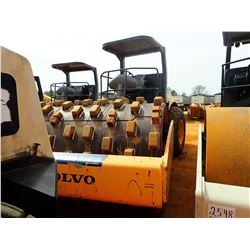 """VOLVO SD100D ROLLER, VIN/SN:226336 - VIBRATORY, 84"""" PAD FOOT DRUM, CANOPY"""