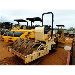 """INGERSOLL-RAND SD-40D ROLLER, VIN/SN:140835 - 54"""" PADFOOT DRUM, CANOPY, METER READING 3,258 HOURS"""