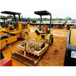 """2000 BOMAG BW124PDB ROLLER, VIN/SN:109A21902144 - VIBRATORY, 48"""" PADFOOT DRUM, BLADE, CANOPY, METER"""
