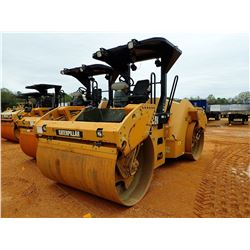 """2012 CAT CB54XW ROLLER, VIN/SN:JLM00519 - 66"""" DRUMS, VIBRATORY, CANOPY, METER READING 4,449 HOURS"""