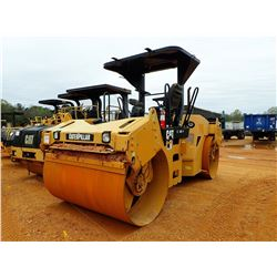"""2008 CAT CB-534D ROLLER, VIN/SN:EAA00626 - TANDEM, 78"""" DRUMS, VIBRATORY, CANOPY, METER READING 5,672"""
