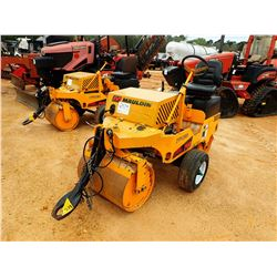 """2015 MAULDIN 3000 ROLLER, VIN/SN:2YP02810 - TOW PACKAGE, VIBRATORY, 28"""" FRONT DRUM, 34"""" REAR DRUM, M"""