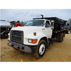 1996 FORD F700 SPREADER TRUCK, VIN/SN:1FDPF70J4TVA20267 - GAS ENGINE, 6 SPEED TRANS, SPREADER BODY,