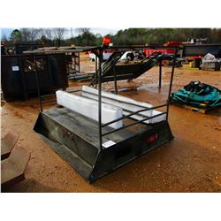 TRUCK/ TRAILER BED W/ SEATS & CANOPY FRAME (A-1)