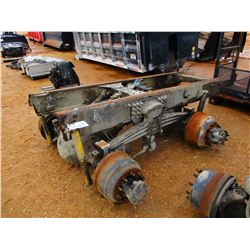 - COMPLETE REAR CUTOFF FROM 2000 STERLING, 46,000# ROCKWELL AXLES W/4.30 RATIO, STERLING T RIDE SUSP