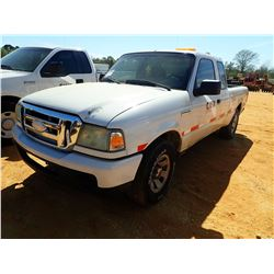 2008 FORD RANGER PICK UP, VIN/SN:1FTYR14U78PA47542 - EXT CAB, GAS ENGINE, A/T, ODOMETER READING 306,