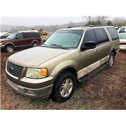 2003 FORD EXPEDITION, VIN/SN:1FMPU16L93LB71029 - (SELLING ABSENTEE-LOCATED IN FT PAYNE, ALABAMA)