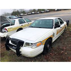 2008 FORD CROWN VICTORIA, VIN/SN:2FAFP71V58X131131 - (SELLING ABSENTEE-LOCATED IN FT PAYNE, ALABAMA)