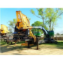 JOHN DEERE 437E LOG LOADER, VIN/SN:310854 - CAB, A/C, CSI 264 ULTRA DELIMBER, MTD ON BIG JOHN TRAILE