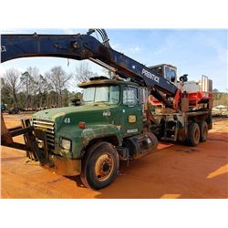 PRENTICE 384 LOG LOADER, VIN/SN:PR61358 - CAB, MTD ON 1992 MACK RD TRUCK, S/N 6NC012026, T/A, (SELLI