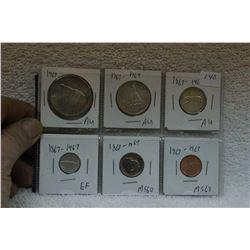 Canada Centennial Coins (6)