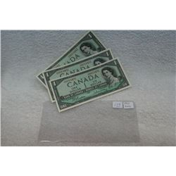 Canada One Dollar Bill (3)
