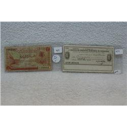 Libya 5 Piastres & Italy 50 Lire