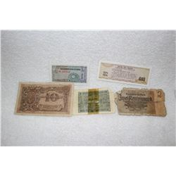 Old Foreign Notes