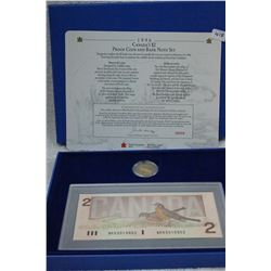 Canada Two Dollar Proof Coin & Bank Note Set