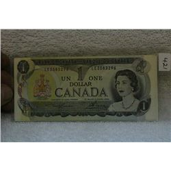 Canada Two Letter One Dollar Bill
