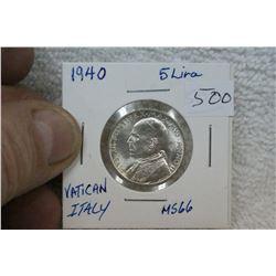 Vatican City 5 Lira