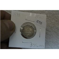 Newfoundland Ten Cent Coin (1)