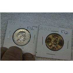 U.S.A. Dollar Coins (2)
