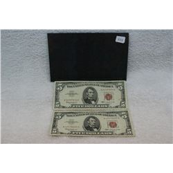 U.S.A. Five Dollar Bank Notes