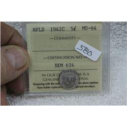 Newfoundland Five Cent Coin