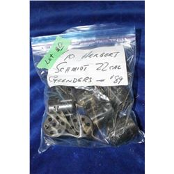 Bag of 10 Herbert Schmidt 22 calibre Cylinders