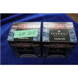2 Boxes of 22 LR Federal, 1050 Rnds, (Factory)