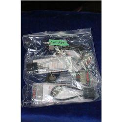 Bag of Six Gun Locks with Keys